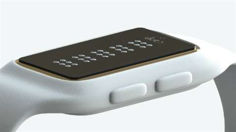 Smartwatch for the blind displays braille in real time
