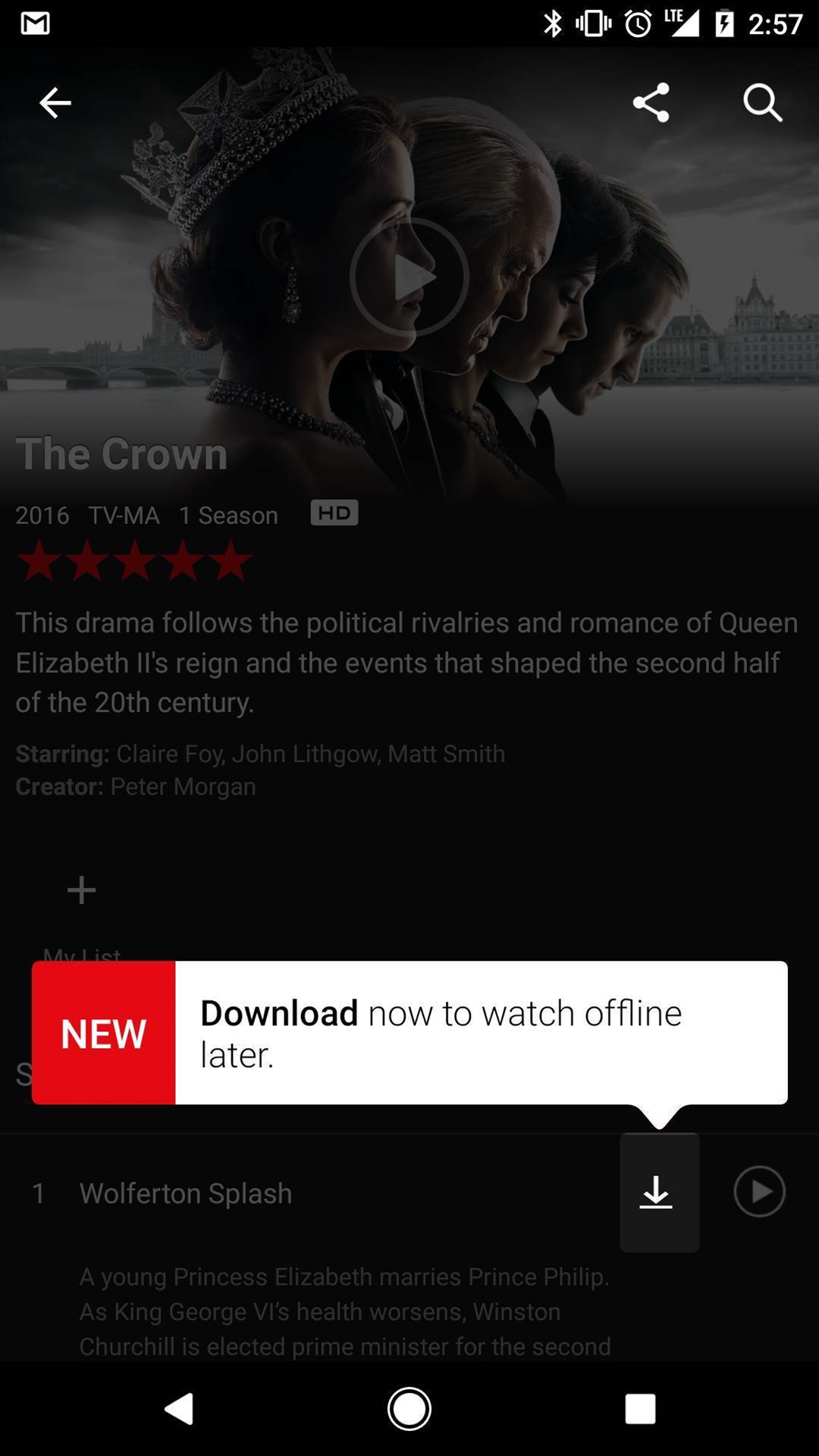 You can now download Netflix shows for offline playback
