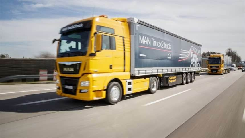 Driverless truck convoys just conquered Europe thanks to the powers of wireless communication