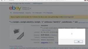 eBay cross-scripting vulnerability exploited
