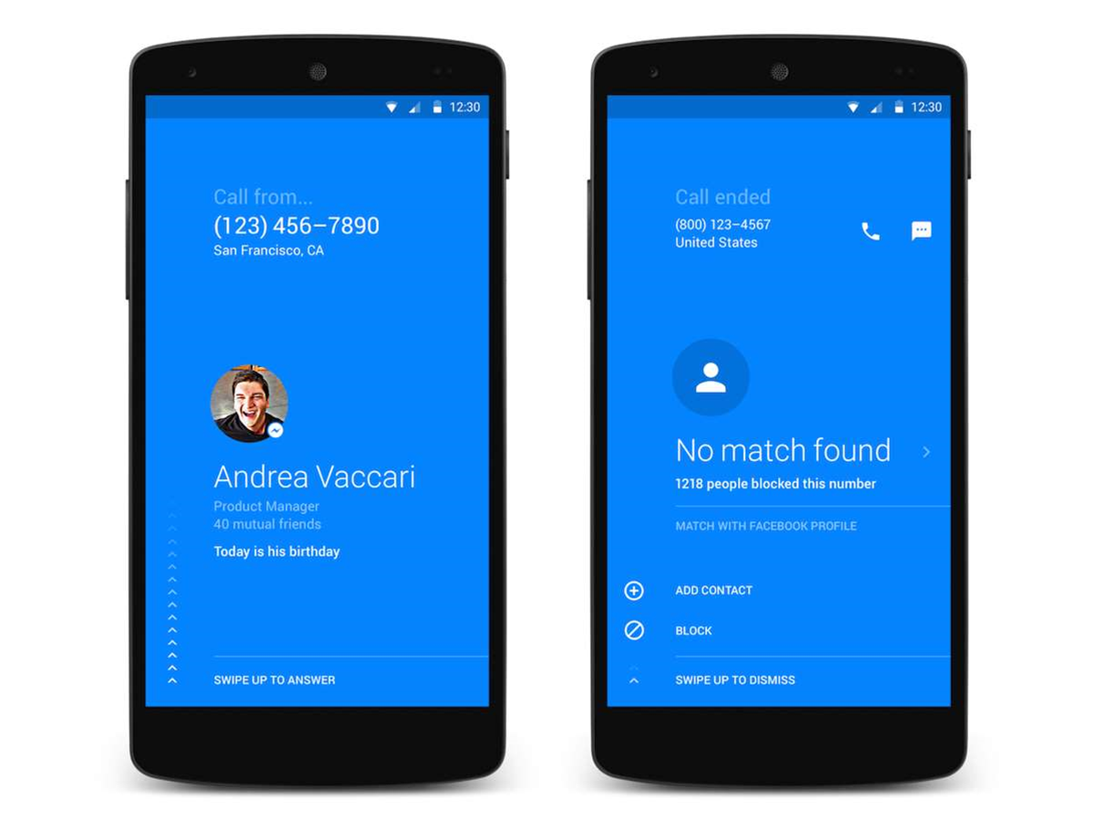 Facebook releases Android phone dialer, Hello