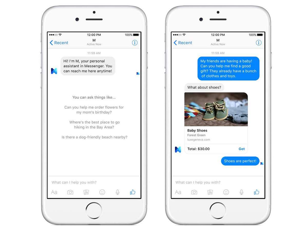 Facebook's M: a human-supported virtual assistant inside Messenger