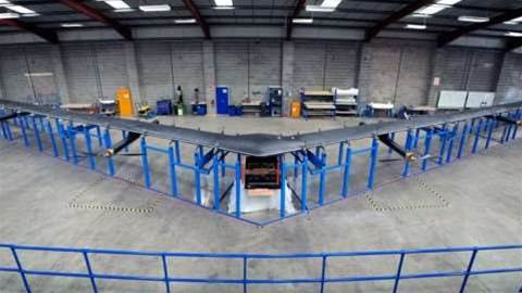 Facebook reveals solar-powered, laser-beaming internet drone