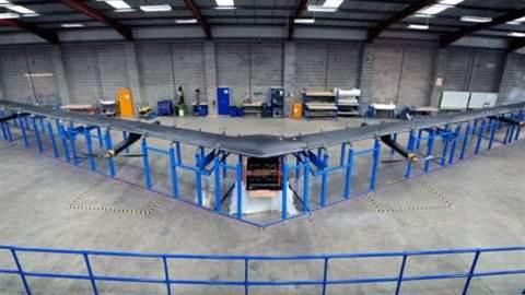 Facebook reveals solar-powered, laser-beaming internet drone