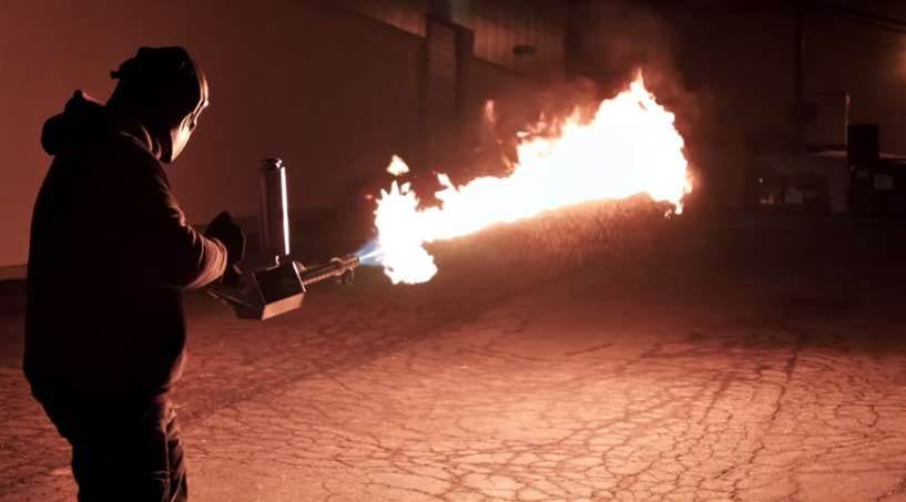 Personal Flamethrower Might Get Crowdfunding Approval