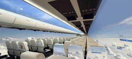 Future Aeroplanes Might Replace Windows With OLED Screens