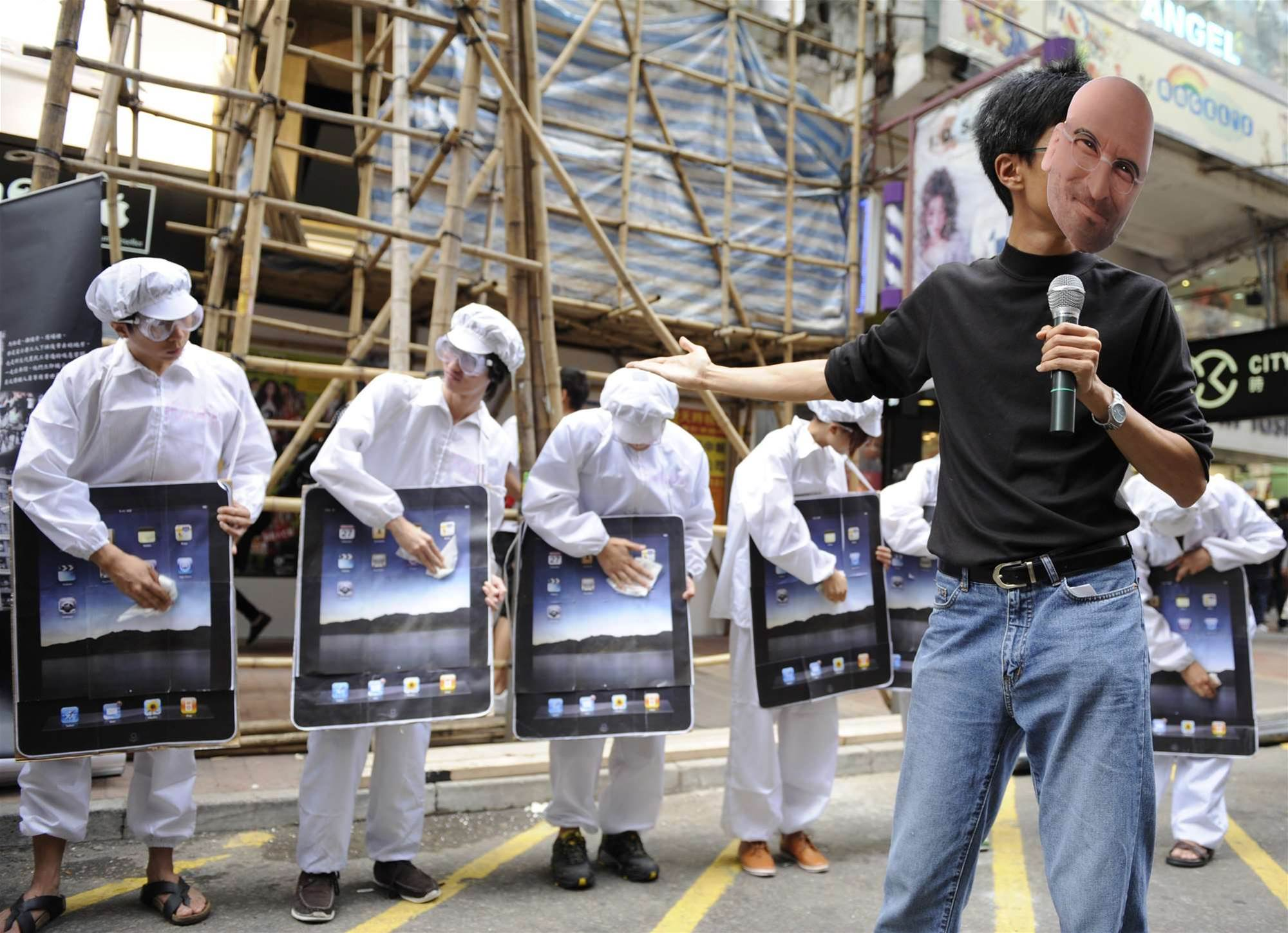 Foxconn denies mass worker strike