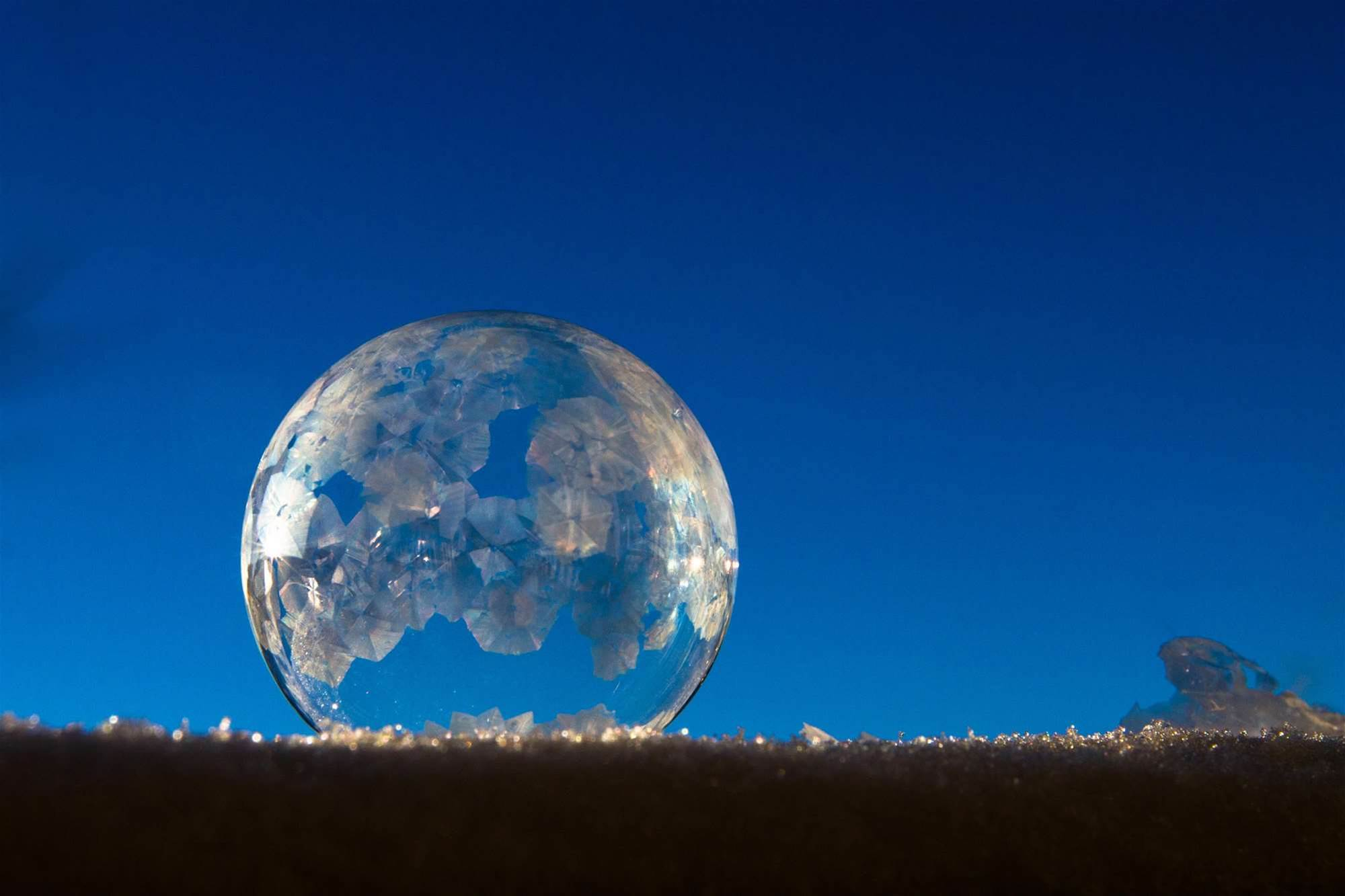 You Can Blow Soap Bubbles And Instantly Freeze Them Into Ice Orbs