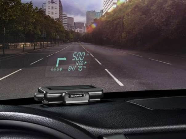 Turn your car into a jet fighter with the Garmin HUD
