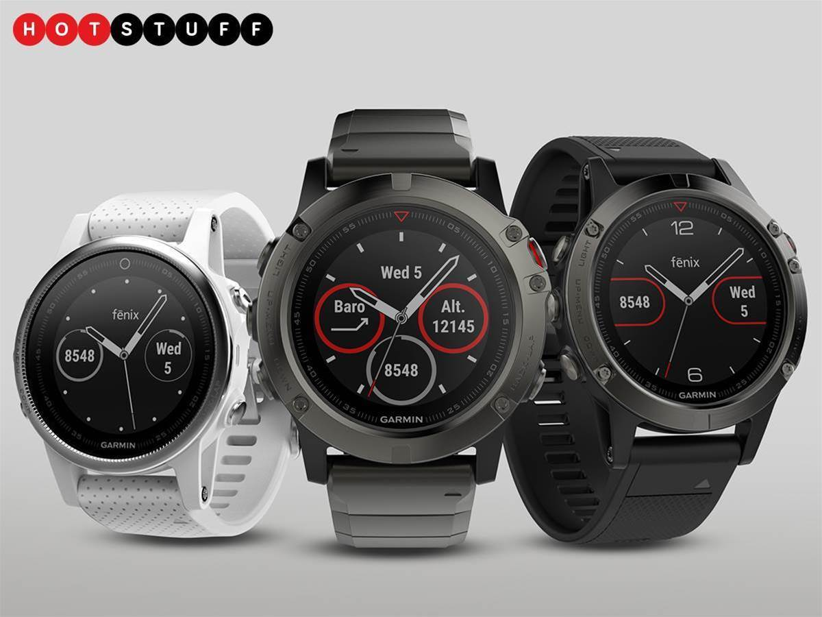 Garmin's new Fenix 5 watches will track all day, whatever your wrist size