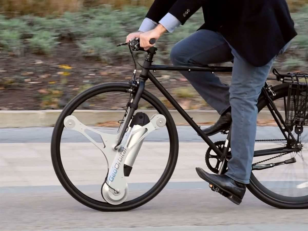 This bolt-on wheel gives any bike an electric helping hand
