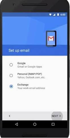 Gmail on Android adds support for Exchange accounts