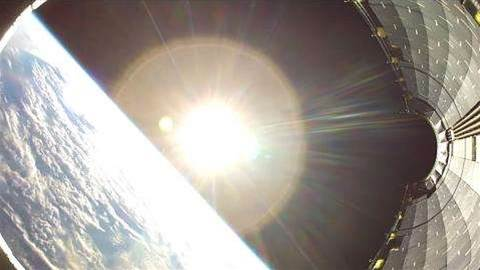 GoPro captures incredible footage as it falls from space