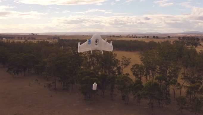 Google tests drone delivery in country Queensland