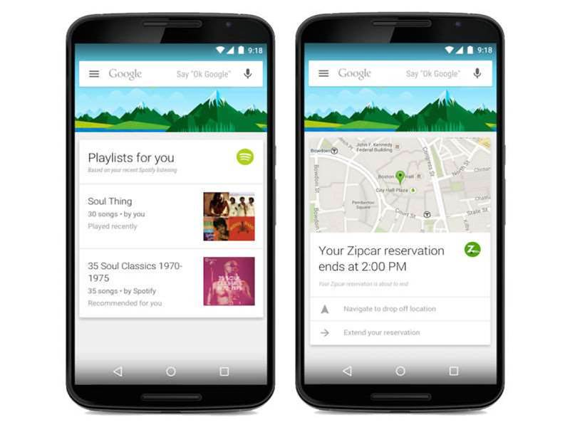 Google Now expands with 70 new app cards, including Spotify