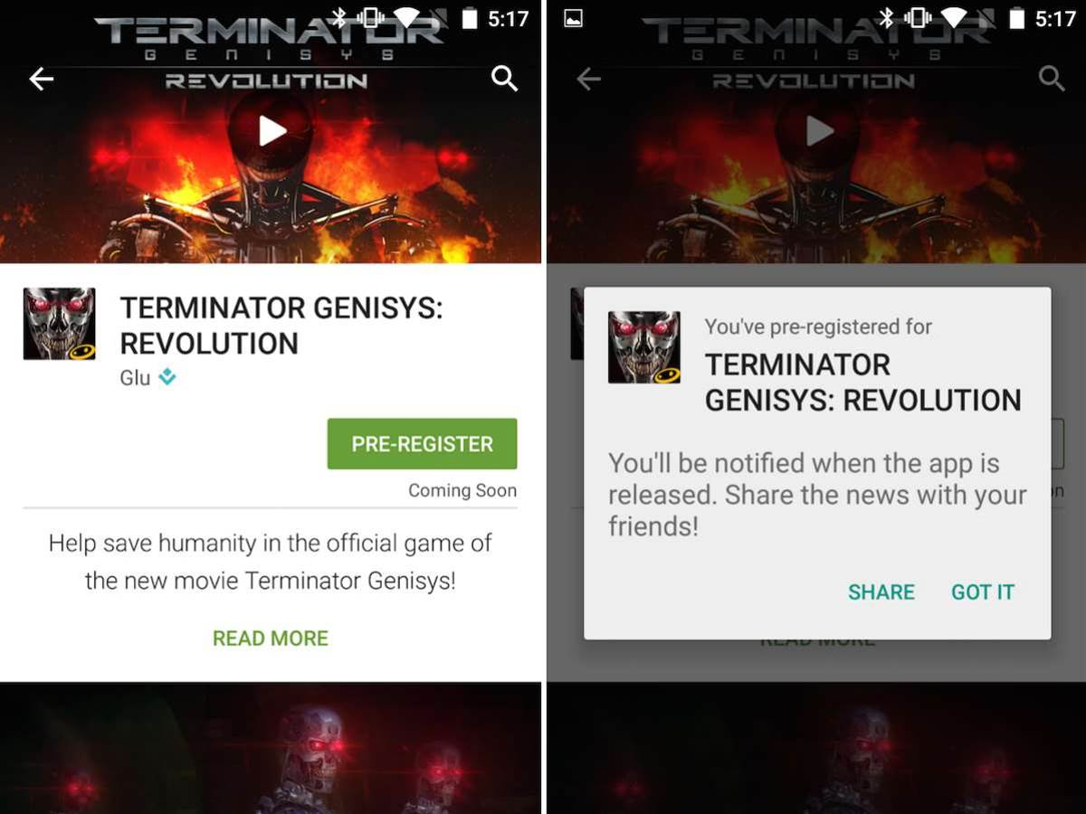 Now you can pre-register for upcoming Android apps