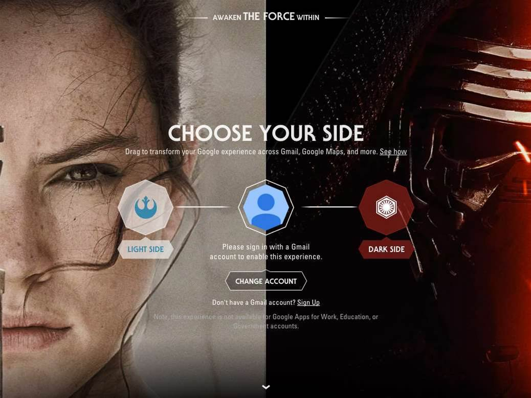 Google adds a bit of Star Wars to YouTube, Gmail and more