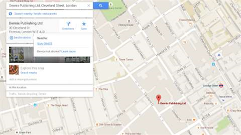 Google Maps now lets you 'send directions' directly to your phone