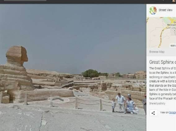 Google Street View brings the Giza pyramids to you