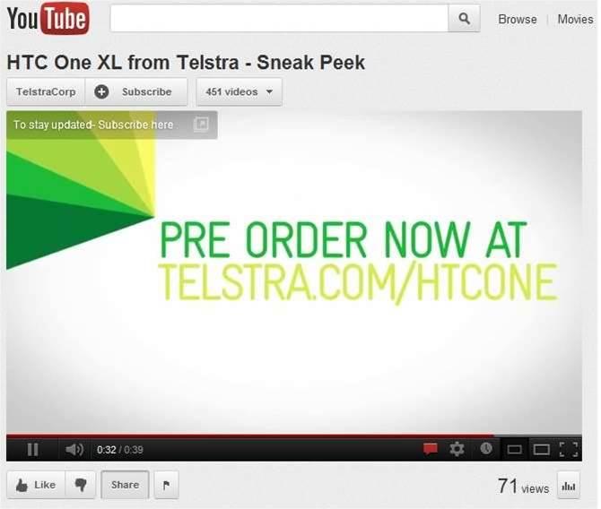 Telstra leaks HTC One XL launch