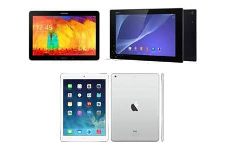 Sony Xperia Z2 Tablet vs iPad Air vs Samsung Galaxy Note 10.1 (2014): the weigh-in