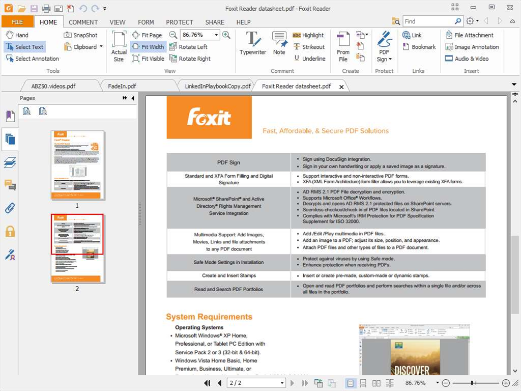 Foxit Reader 8.1 adds Box integration, improves annotation features