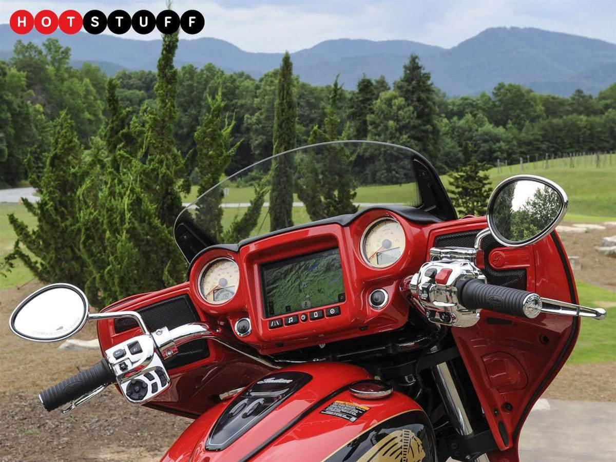 Indian Motorcycles' has made the biggest motorcycle touchscreen system ever
