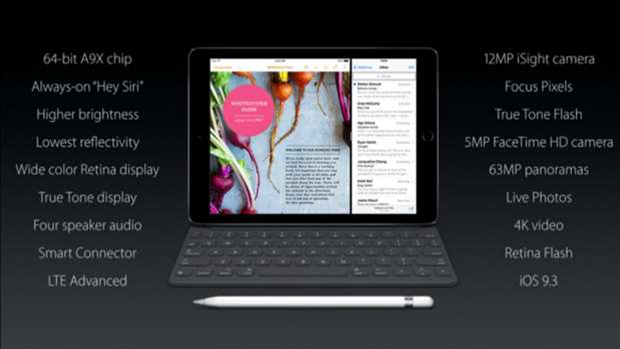 Apple reveals 9.7-inch iPad Pro
