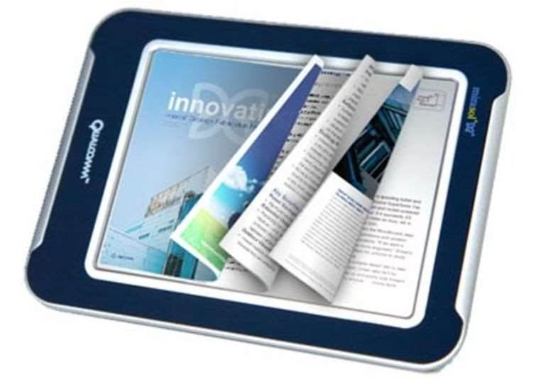 Colour touchscreen display for future eBook readers
