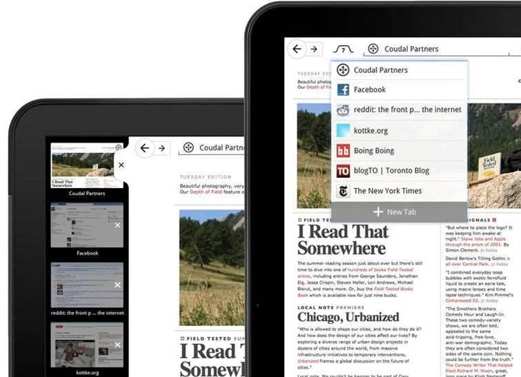 First screenshots of Firefox for tablets