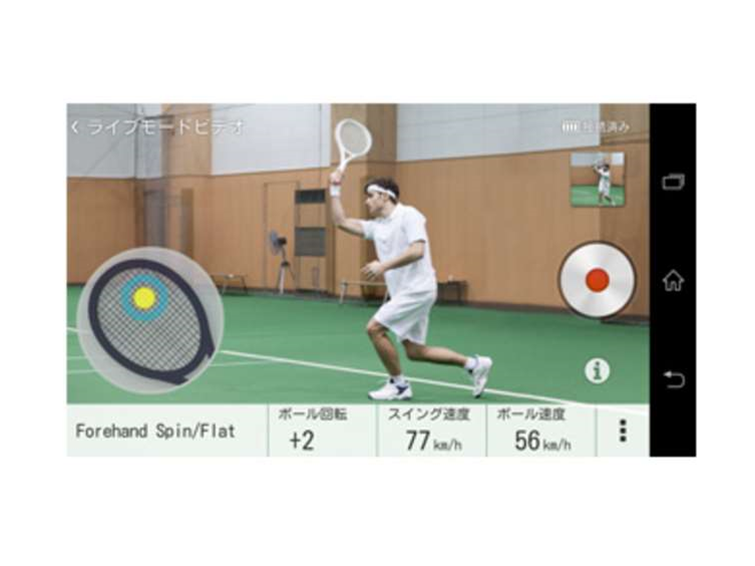 Sony will launch a tennis racquet sensor in May