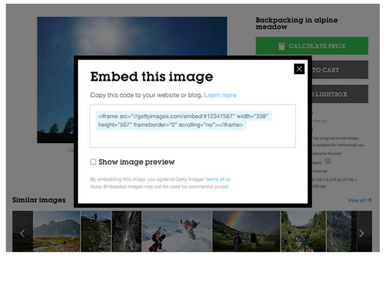 Getty frees millions of photos for embedding