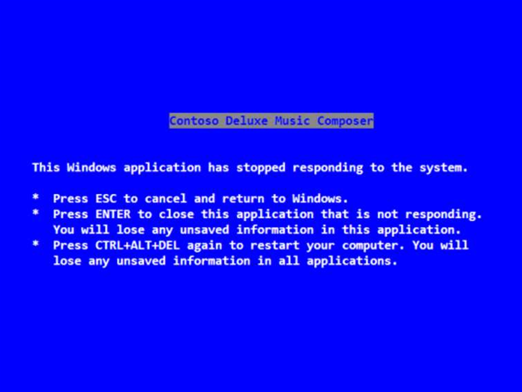 Steve Ballmer's legacy: the Blue Screen of Death