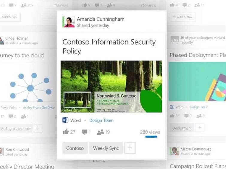 Office Delve - Google Now for your business documents