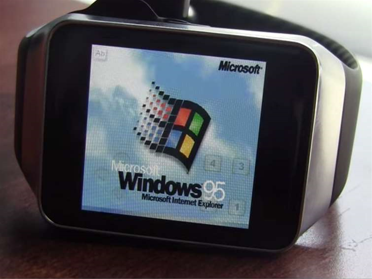 Windows 95 can run on a Samsung smartwatch