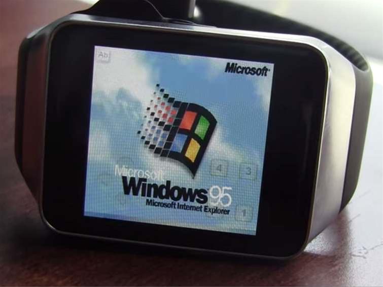 Windows 95 can run on a Samsung smartwatch