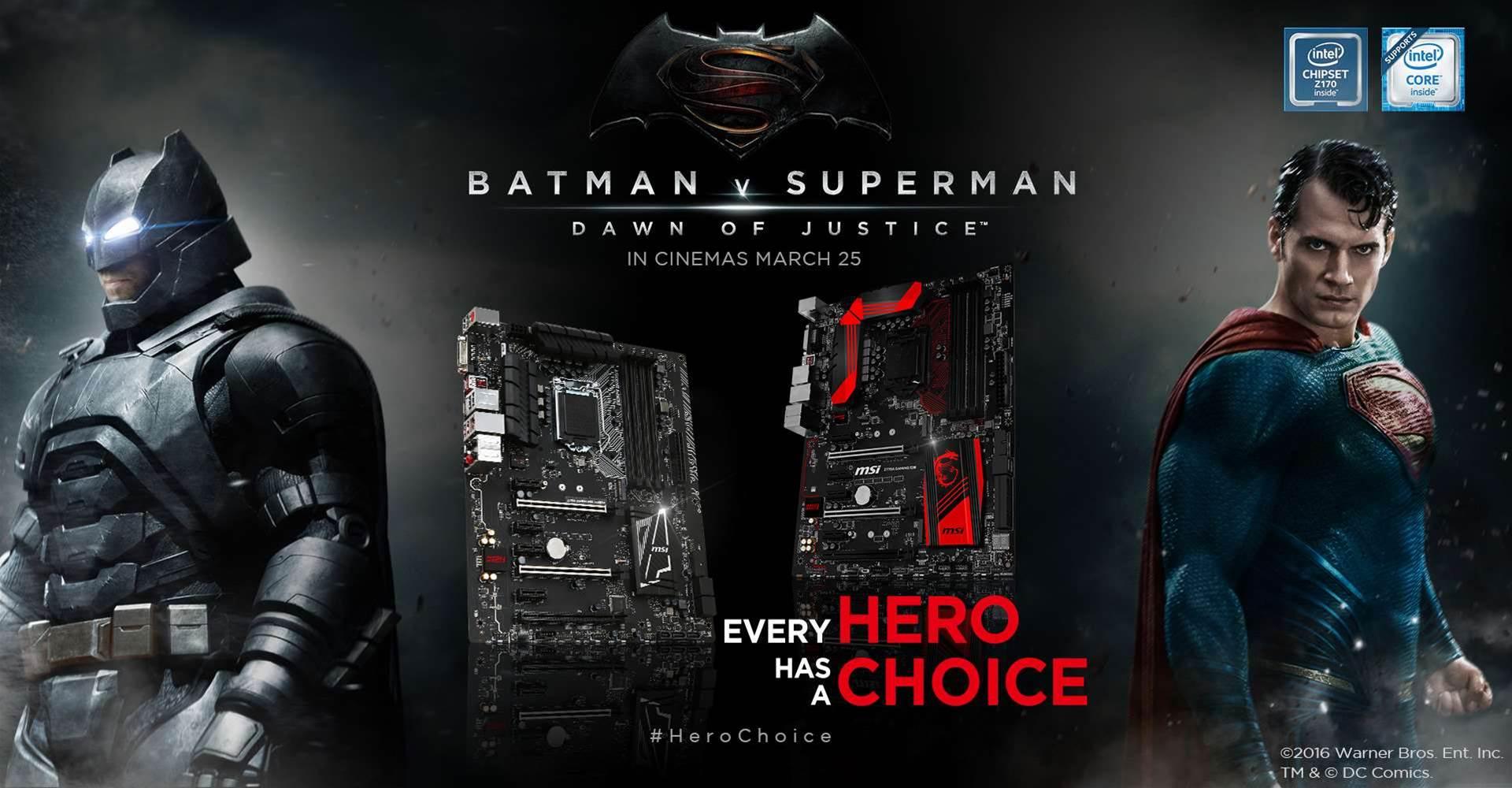 MSI partners with Warner Bros for Batman v Superman tie-in