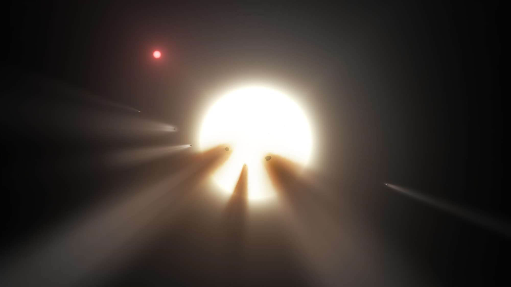 'Alien Megastructure' Star Apparently Thronged By Comets