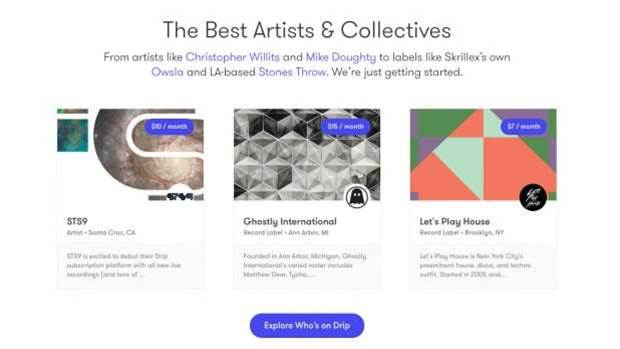 Kickstarter buys music streaming service Drip
