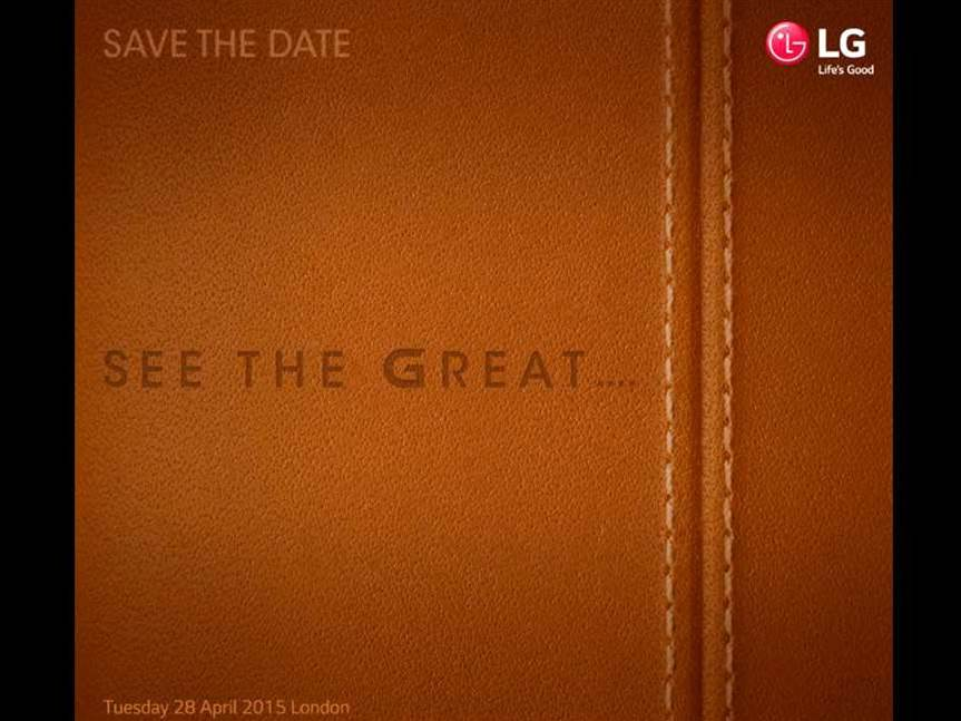 LG G4 launch event set for 28 April