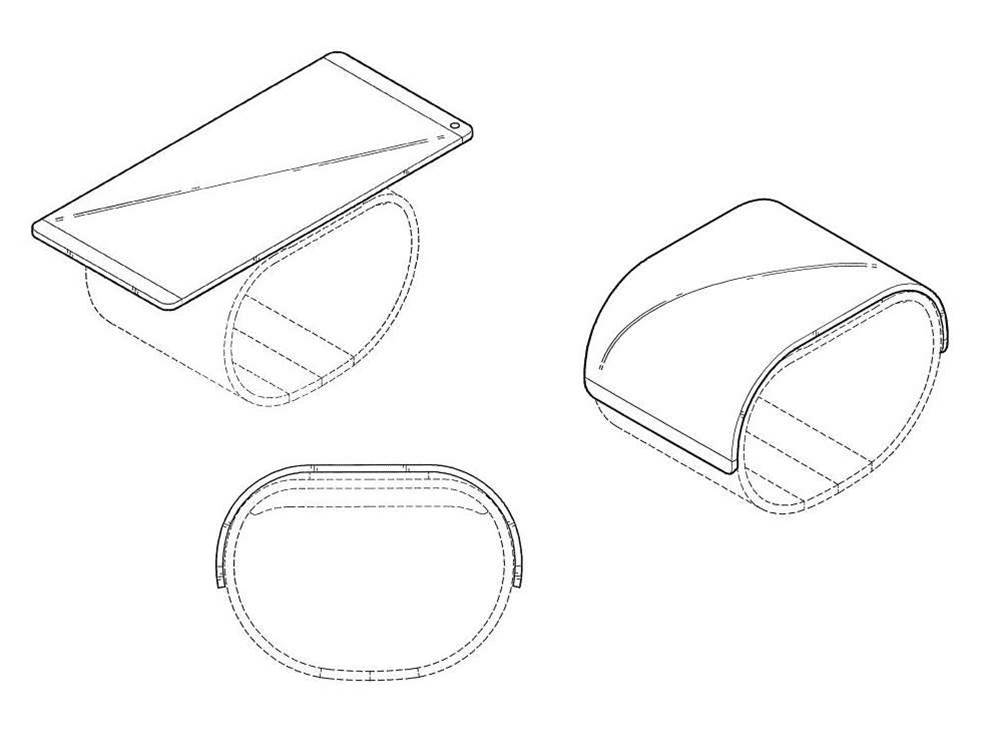 LG's new patent shows off a smartphone slap bracelet for your wrist