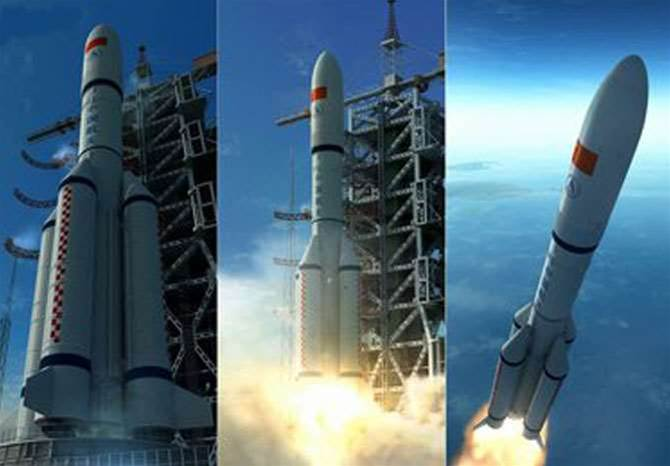 Long March 5 Space Rocket Stretches Its Legs