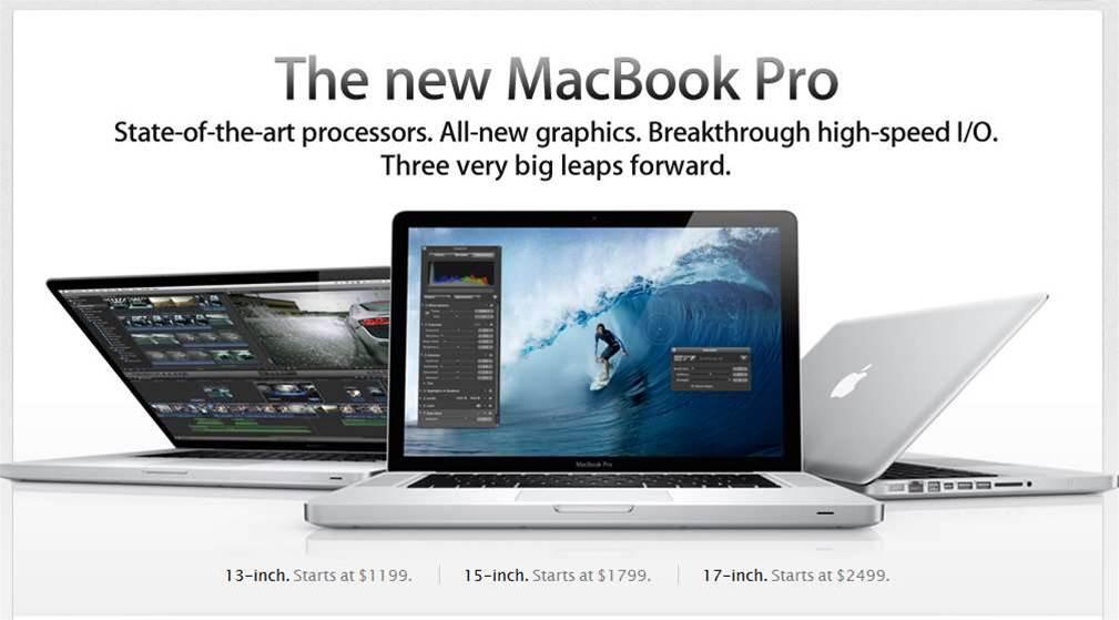 Apple tweaks MacBook Pro lineup