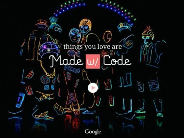 Google's Made with Code program encourages young girls to learn coding