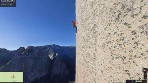 Google's vertical Street View lets you climb El Capitan