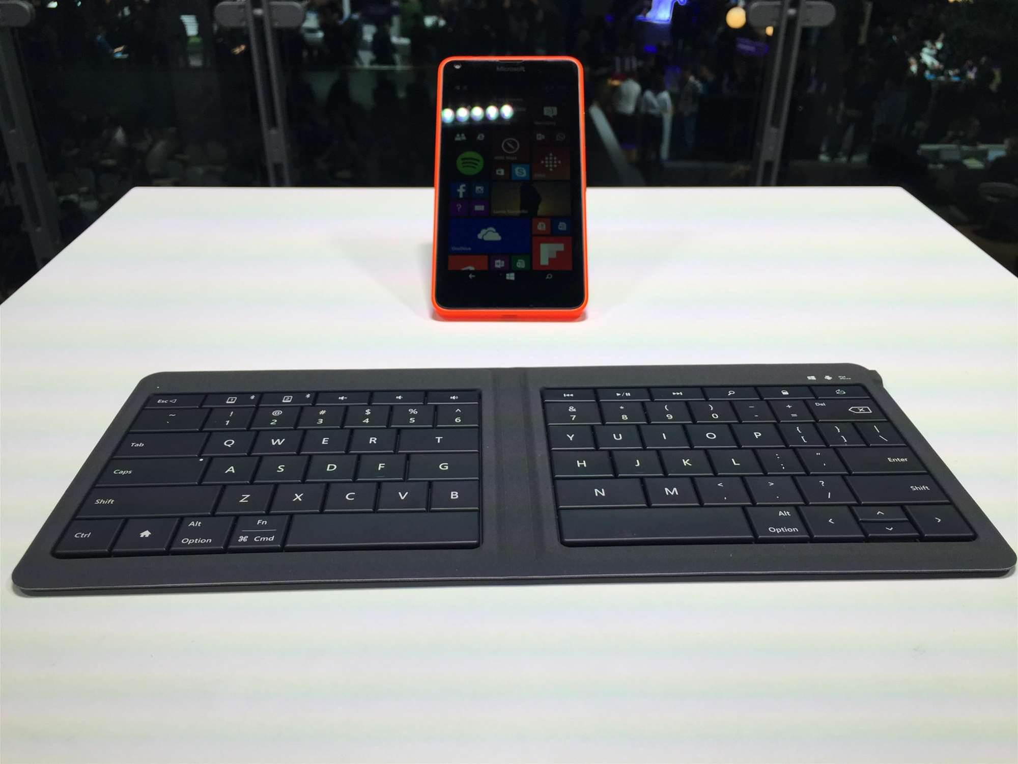 Microsoft's new keyboard folds like a wallet, types like a dream
