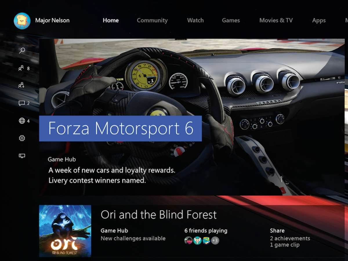 Windows 10 hits Xbox One in November with a UI overhaul