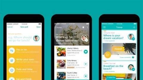 Microsoft Tossup is a planning app for unorganised groups of friends