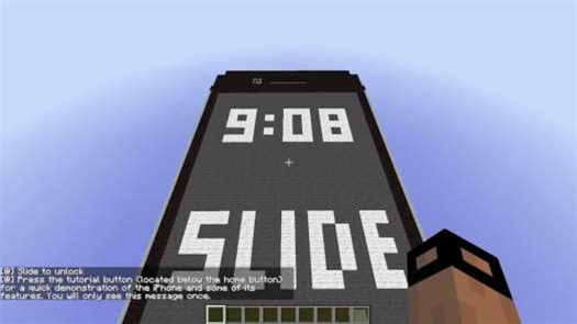 A Working iPhone Built In Minecraft