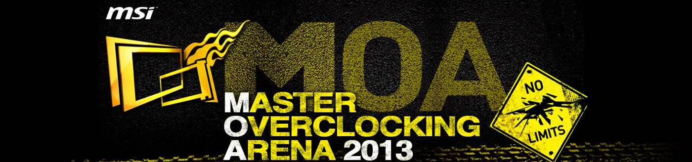 MSI announces 6th annual Master Overclocking Arena event
